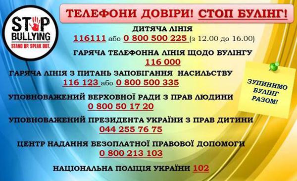 Слободороманівський ліцей - Булінг - STOP.